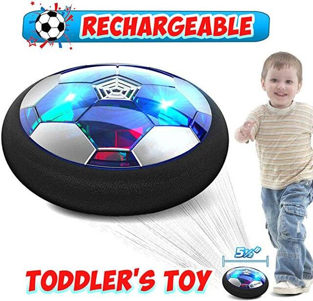 אוויר כוח רחף כדורגל כדור מקורה כדורגל צעצוע צבעוני מוסיקה אור מהבהב כדור צעצועי ילדים ספורט משחקים של ילד חינוכיים מתנה