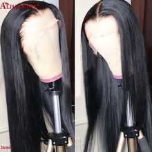130 150 Density Transparent Lace Color Glueless HD Full Lace Human Hair Wigs For Women Brazilian Remy Pre Plucked With Baby Hair(China)