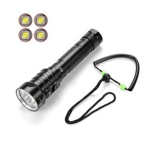 Image 2 - SolarStorm DX4S LED Diving Flashlight IPX8 Waterproof 4xXM L L2 3 Mode 4500 Lumens 26650 Submarine Dive Torch Lamp