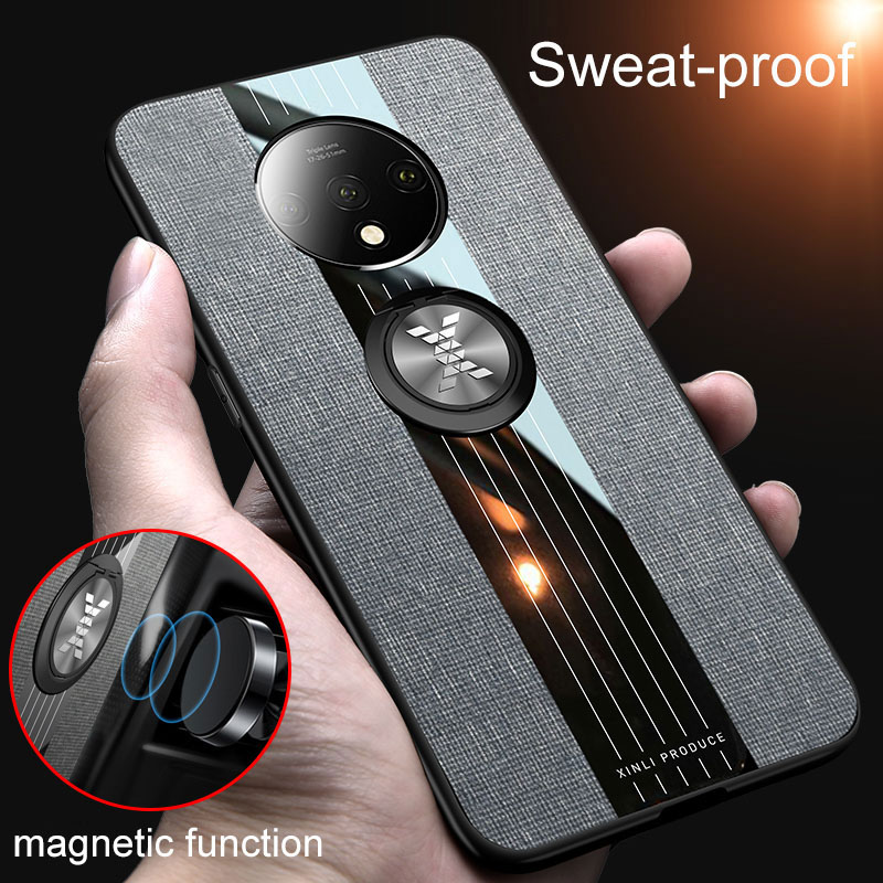 <font><b>Case</b></font> For <font><b>Oneplus</b></font> 7T <font><b>Case</b></font> Finger Ring Stand Car <font><b>Magnet</b></font> Holder Funda For <font><b>Oneplus</b></font> <font><b>6</b></font> 6T 7 Pro Cover Coque One Plus 7 7T Phone Covers image
