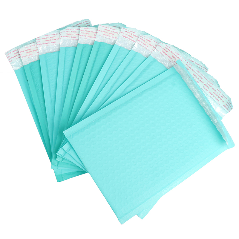 10pcs/180*230mm/6x9in Teal Poly Bubble Mailer Envelopes Padded Mailing Bag Self Sealing