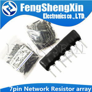 20pcs 7pin DIP exclusion Network Resistor array 470R 1K 2.2K 3.3K 4.7K 5.1K 6.8K 10K 33K 47K 100K A 471J 102J 222J 332J 472J