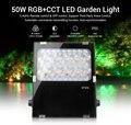 Milight FUTC06 50W RGB + CCT LED Luce del Giardino AC100 ~ 240V 50/60Hz IP65 supporto di terze parti voice 2.4GHz Remote control App di controllo