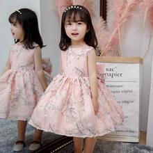 Baby Girl Dress Pink Tulle Summer Baptism Dress for infant Girls 1st year birthday party wedding Gown Christening Gowns clothing(China)