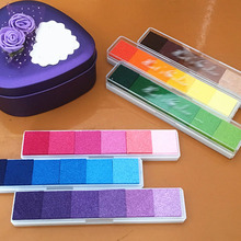1Pcs Oil Based Finger Print Nice Gift Rubber Stamp Ink pad Stamp Sealing Decoration DIY Scrapbooking Vintage Crafts