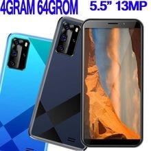 Smartphones 8a pro android celular 4g ram 64g rom face id desbloqueado 5.5 polegada telefones celulares 13mp hd sim duplo wifi