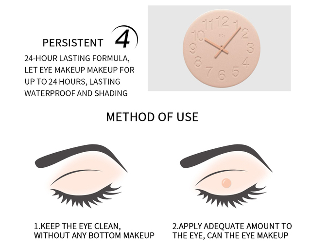 5ml Eye Base Primer Prolong Makeup Eye Primer Long Lasting Smudge-proof Make Up Natural Eye Color Cream Cosmetics Base Cosmetics 1