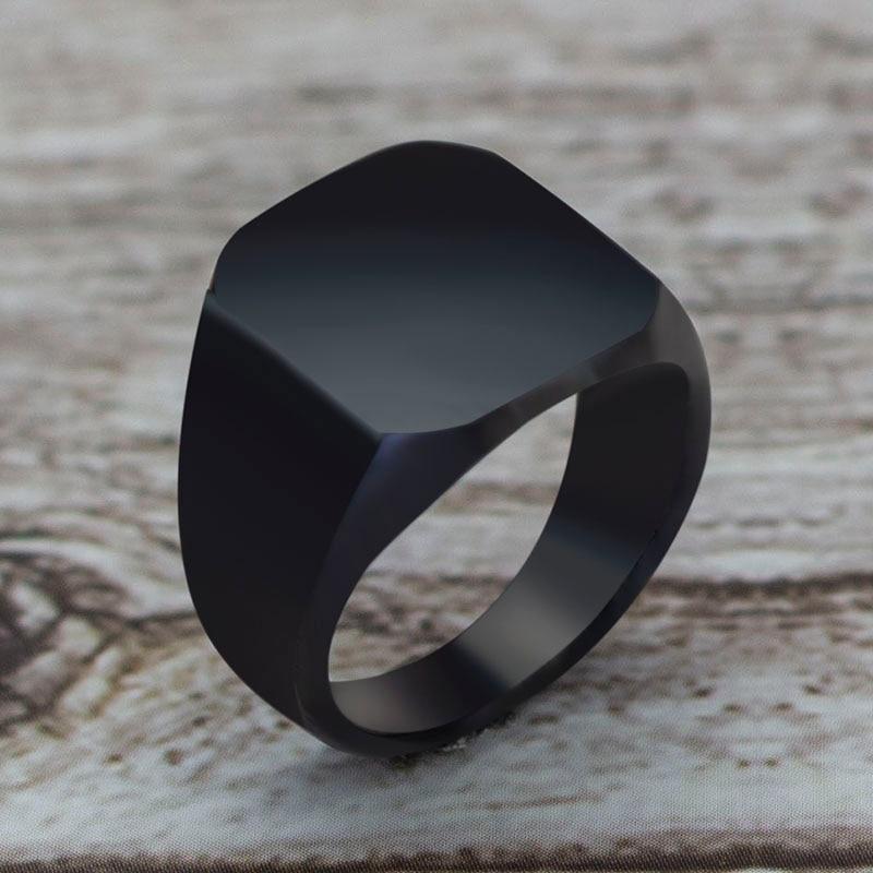 2020 модное черное квадратное кольцо в простом стиле, классическое обручальное кольцо, ювелирные изделия 1