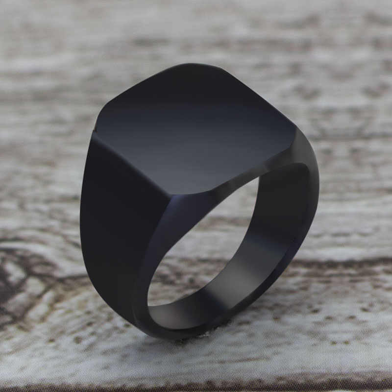 2019 Fashion Simple Style Black Square Ring Classic Ring Wedding Engagement Jewelry