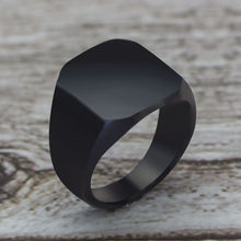 2020 moda estilo simples preto quadrado anel clássico casamento noivado jóias