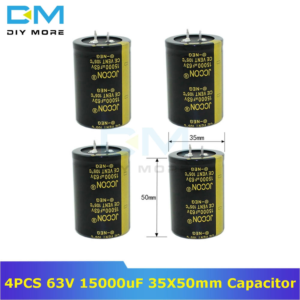 4PCS 63V 15000uF 35X50mm Aluminum Electrolytic Capacitor High Frequency Low Impedance Through Hole Capacitor 35X50 35*50mm