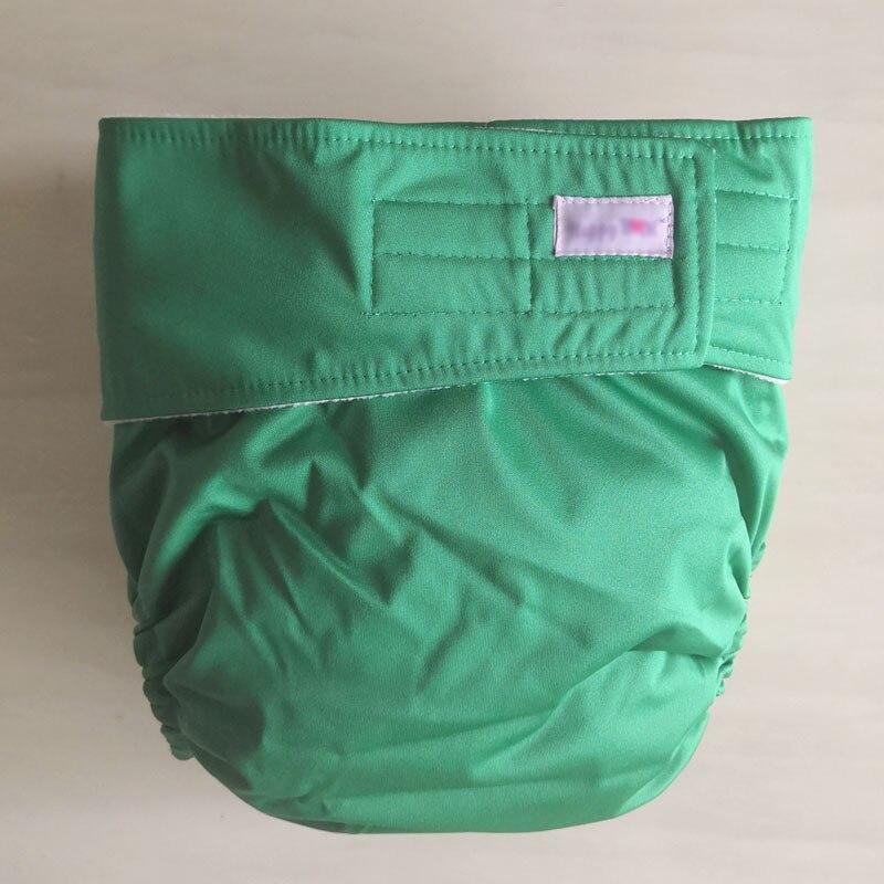 Многоразовые подгузники для взрослых для пожилых людей и людей с ограниченными возможностями, большие размеры, регулируемые термополиуретановые пальто, водонепроницаемая одежда для недержания при недержании - Цвет: green