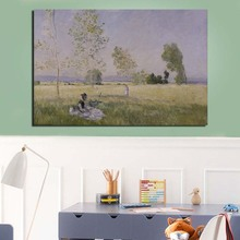 Claude Monet Painting HD Canvas Painting Print Living Room Home Decoration Modern Wall Art Oil Painting Posters Pictures Artwork claude monet in summer canvas painting prints living room home decoration modern wall art oil painting posters pictures artwork