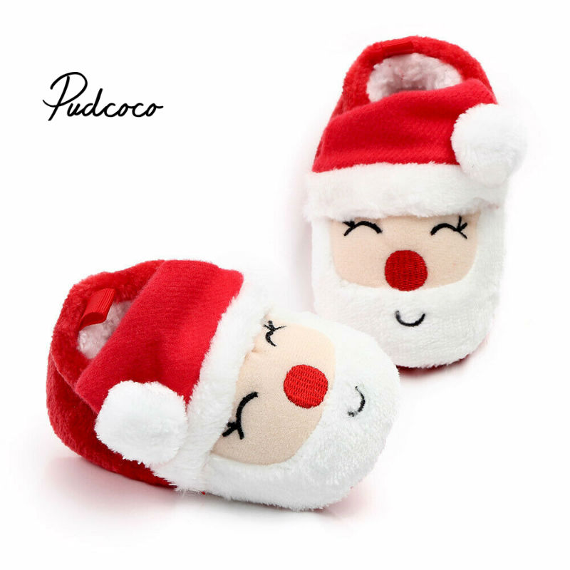 Christmas 2020 Toddler First Walkers Kids Winter Boys Girls Fashion Shoes Warm Cute Cartoon Kids Animal Cute Baby Shoes For Xmas