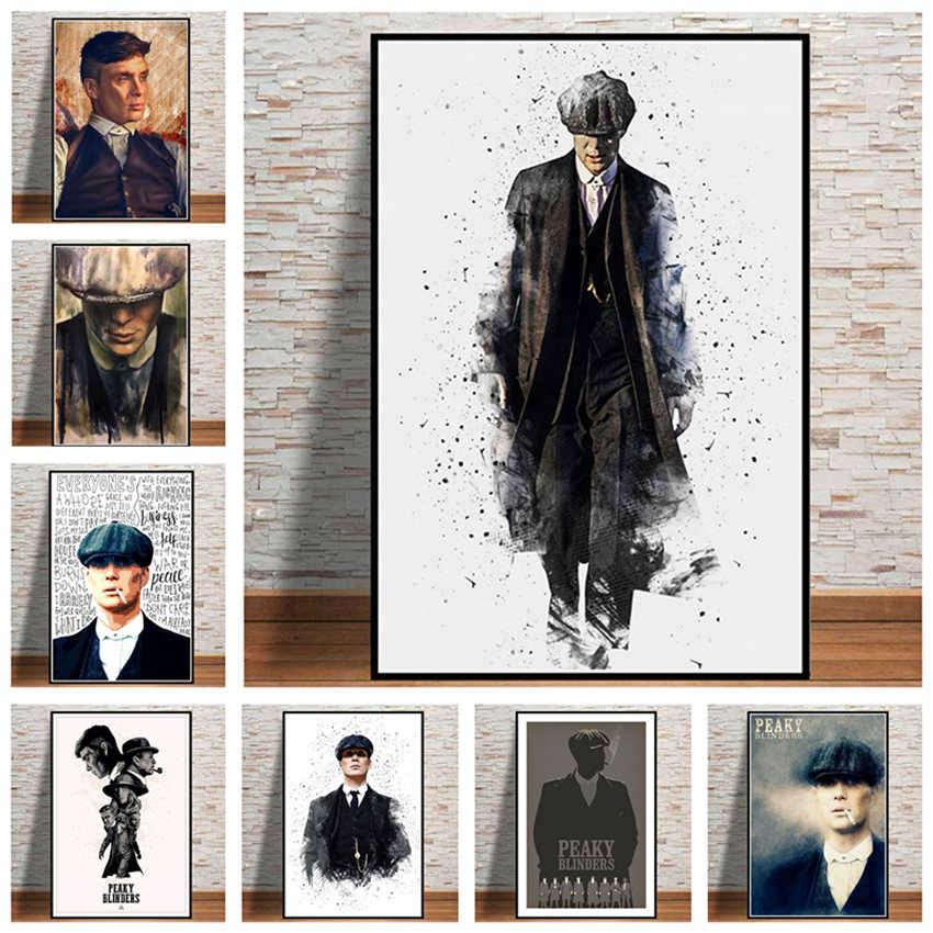 Peaky Blinders Season TV series painting wall art home decoration poster Art Decor Painting wall art living canvas painting K612