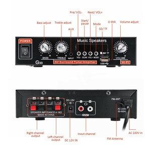 Image 5 - Evrensel ses amplifikatörü Bluetooth ev sineması ses güç Amplificador araba HiFi Stereo amplifikatörler desteği FM TF AUX MP3 radyo