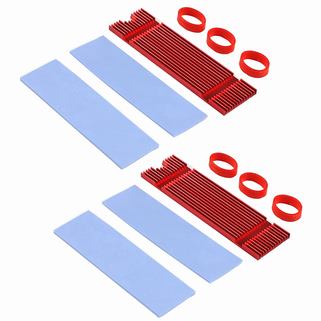 JEYI Cooling Warship M.2 Heatsink NVME Heat Sink NGFF M.2 2280 Copper Sheet Thermal Conductivity Silicon Wafer Cooling