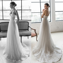 Verngo Bling Aline Wedding Dress Elegant Strapless Bridal Backless Gowns Long Turkey Vestido De Noiva