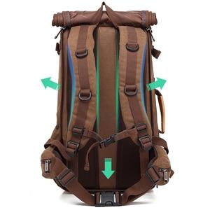 Image 4 - Magic union masculino mochila 20/22 polegada grande viagem mochila lona saco sling mochila caminhadas mochilas de acampamento para homens