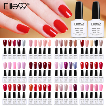 (6PCS/LOT)Elite99 Gel Nail Polish Set LED UV Gel Gift Set Nail Soak Off Nails Gel Lacquer Glitter 10ML Nude Hybrid Nail Polish
