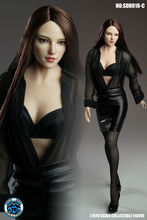 купить SUPER DUCK SDH018 C 1/6 Pale Straight Hair Female Head Carving for 12'' Pale Body Figure по цене 2204.69 рублей