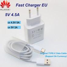 Huawei supercharge ue para mate9 10pro p10plus carregador rápido viagem rápida adaptador de parede 5 v/4.5a 4.5 v/5a 5 v/2a tipo-c 3.0 cabo usb