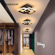 Ceiling Mount Modern Led Chandelier Decoraction Black White Lighting For Living room Bedroom Light Fixtures Luminaire
