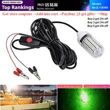 Luz de pesca subacuática de 12V, 108 Uds., lámpara de luz LED para pesca subacuática IP68, señuelos de peces, lámpara que atrae a camarones, calamar, Krill
