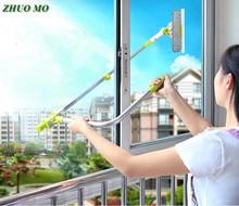 Hot Verbeterde Telescopische Hoogbouw Glazenwassen Glasreiniger Borstel Voor Wassen Venster Stof Borstel Huishoudelijke Schoonmaakmiddelen Gereedschappen