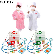 Wooden Toys Doctor Gifts Playing Pretend Nurse-Game Role Kids Children for Funny