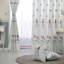 Custom Made Finished Curtains For Living Room Cute Princess Girl For Children Bedroom Blackout Curtains Drapery Tulle WP049&2(China)