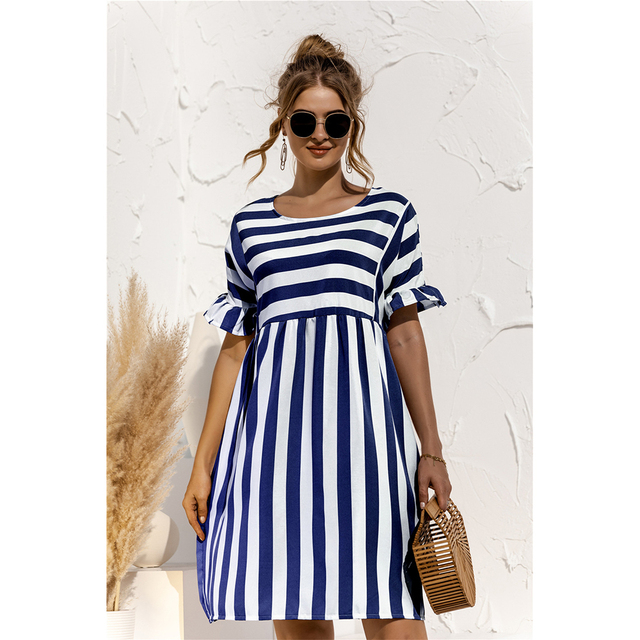 striped country dress 1
