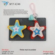 Star Pendant die cut accessories wooden  Regola Acciaio Die Misura MY4246