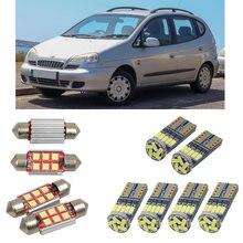 Внутренние светодиодные автомобильные фонари для Daewoo tacuma u100, Купольные лампы для автомобилей, номерные знаки 8 шт