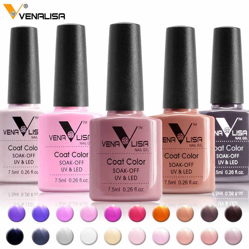 #61508 Venalisa חדש מותג 100% משרים כבוי ציפורניים UV LED ג 'ל פולני UV ג' ל לק פריימר בסיס מעיל עליון נייל טיפים