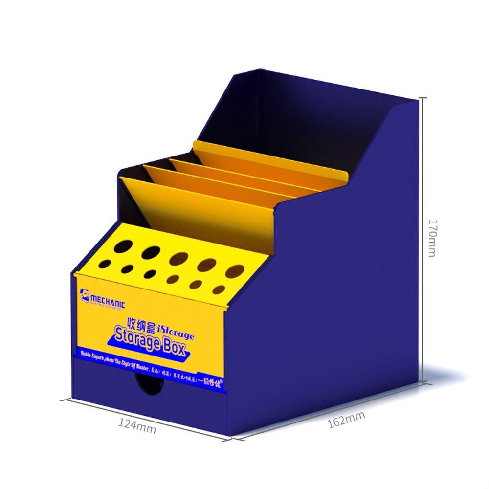 MECHANIC ISorage Box Multi-Function PVC Storage Box Phone Repair Desktop Boxes Screwdriver Parts Box With Drawer Toolkit