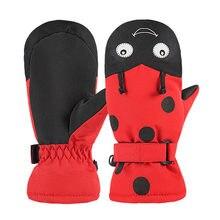 Gants de ski pour enfants de 1 à 10 ans, chauds thermiques, mignons, pour cyclisme, imperméables, coupe-vent, pour l'équitation, hiver