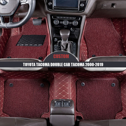 Niestandardowe skórzane dywaniki samochodowe dla TOYOTA Tacoma kabina podwójna Tacoma 2000-2014 2015 2016 2017 2018 2019 plastry do stóp auto stylizacja