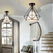 Lámpara de techo de montaje rústico Industrial Vintage de 20cm, lámpara de Metal blanco/Negro, lámpara de Luz Retro creativa de estilo nórdico