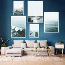 Индивидуальные скандинавский стиль минималистский морской пейзаж