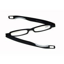 Лидер продаж, складные очки для чтения, вращающийся на 360 градусов, складные, для мужчин и женщин, чехол для дальнозоркости 1,0, 1,5, 2,0, 2,5, 3,0, 3,5, 4,0