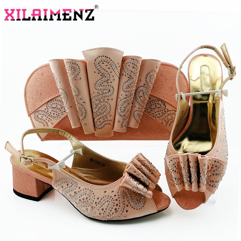 Image 4 - Silver Latest Comfortable Shoes and Bags Set African Sets 2019 