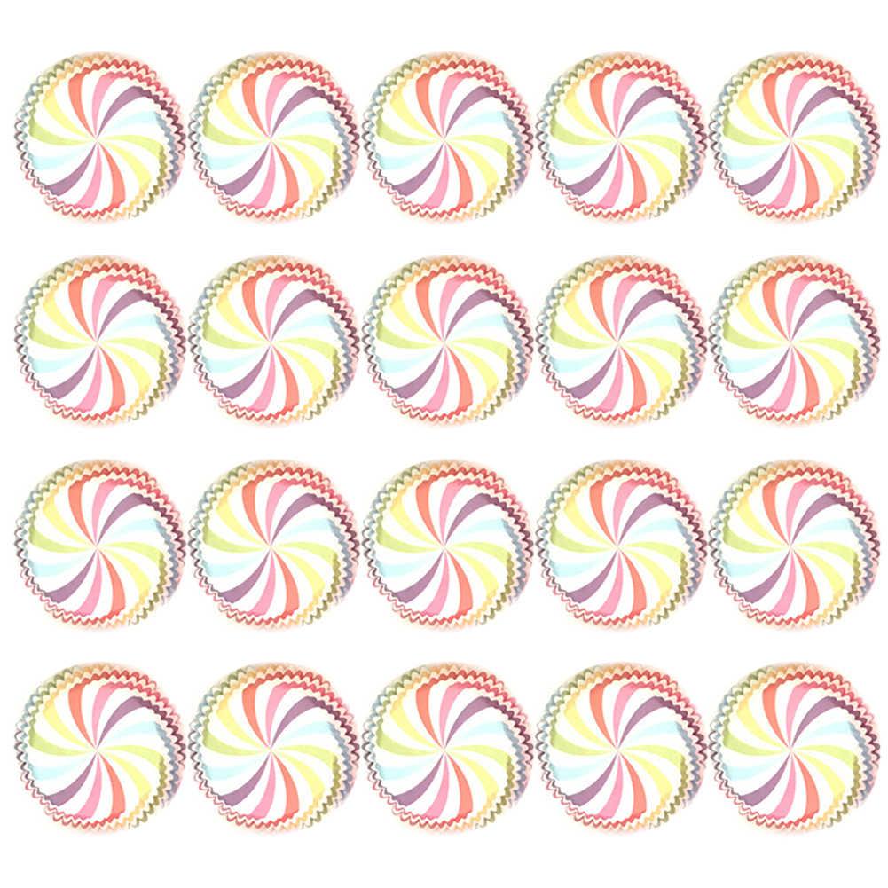 Cupcake Liner มัฟฟินกล่องถ้วยกรณี 100 ชิ้น/ล็อตมัฟฟินคัพเค้กถ้วยกระดาษเค้กรูปแบบ PARTY ถาดเค้กแม่พิมพ์ตกแต่งเครื่องมือ