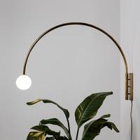 Modern Iron LED Wall Lamps Art Deco Long Arm Sconces Light Fixture Bedroom Bedside Corridor Bar Aisle Study Design Wall Light