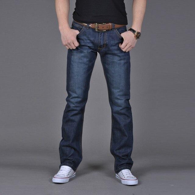 Men Denim Jeans Casual Autumn Winter Cotton Hip Hop Pants Male Loose Work Long Trousers Men Jeans Pants Slim Fit Denim 2