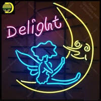 Oferta https://ae01.alicdn.com/kf/H349a70c65fe54856b00923462e2c85148/Letrero de neón para Delight moon angel Neon Bulb Sign regalos a mano hotel Neon signboard.jpg