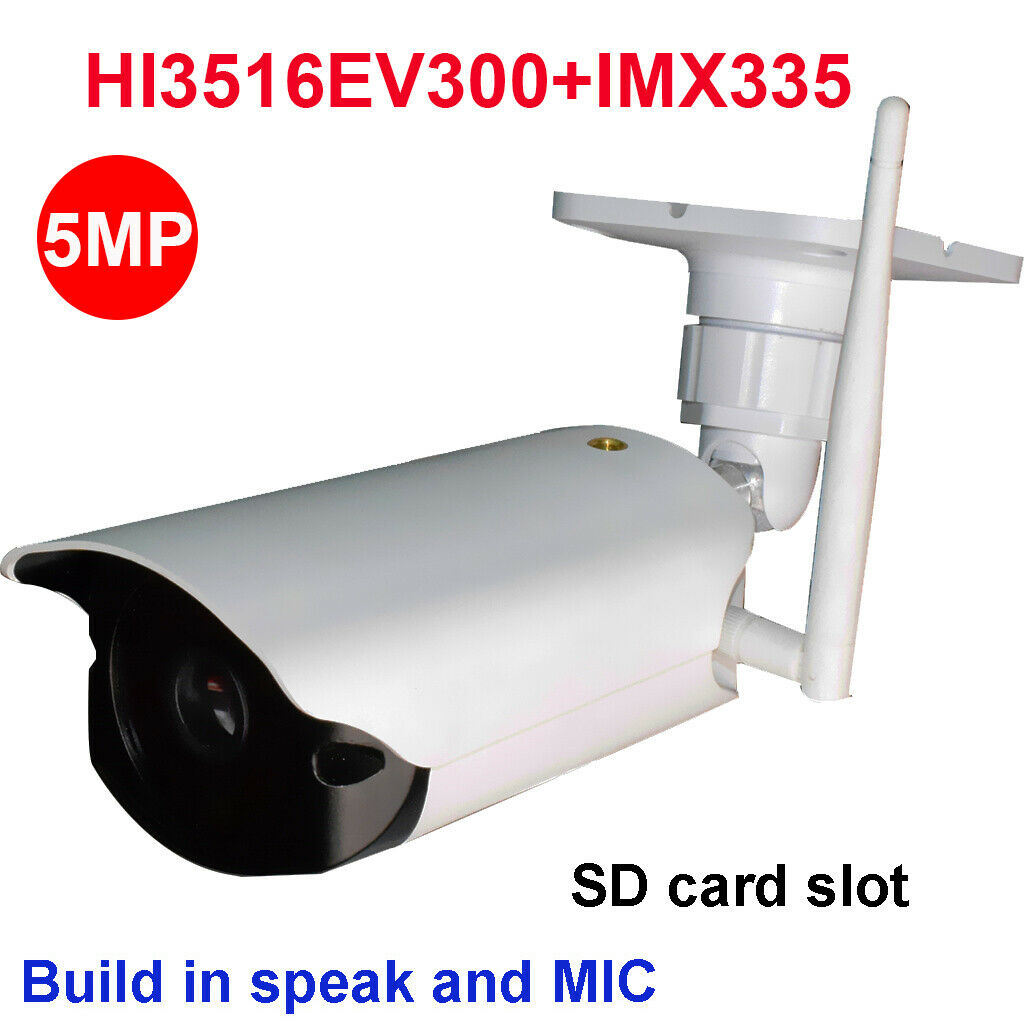 CamHi IMX335 starlight 4MP 5MP wireless ip camera outdoor IR security camera 32 64 128GB SD