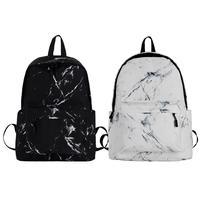 Backpack Fashion Sports Bag Unisex Rucksack Marble Pattern Large Capacity Laptop Back Leisure Travel Bag For Boys And girls