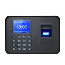 ביומטרי טביעת אצבע נוכחות מכונה LCD תצוגת USB טביעות אצבע מערכת נוכחות זמן שעון עובד בדיקה ב מקליט