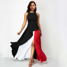 цена Sisjuly Summer Party Black Maxi Dress Elegant Evening Sexy Big Swing Ruffle Patchwork Sleeveless Plus Size Fashion Long Dresses онлайн в 2017 году
